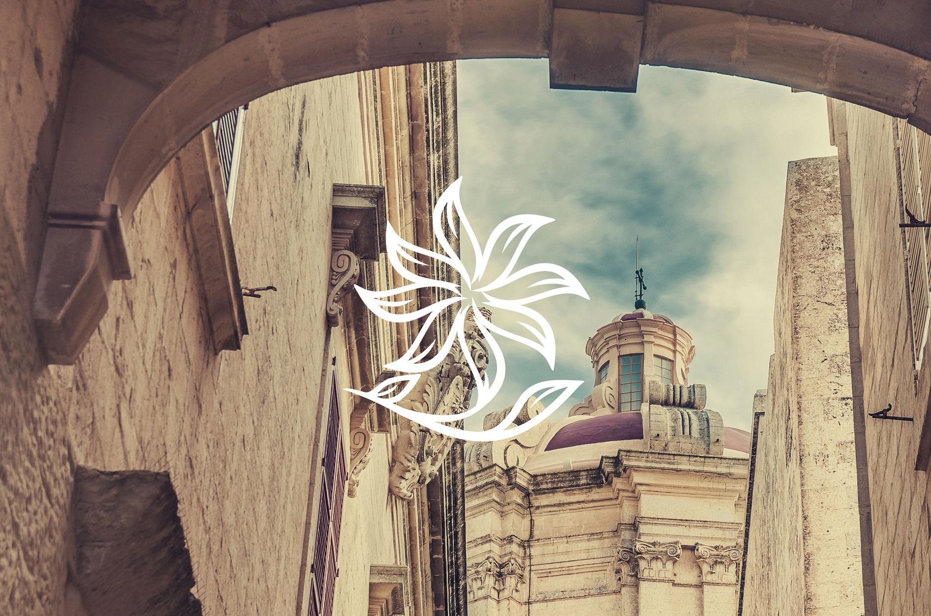 Project: Point De vue logo white mdina background
