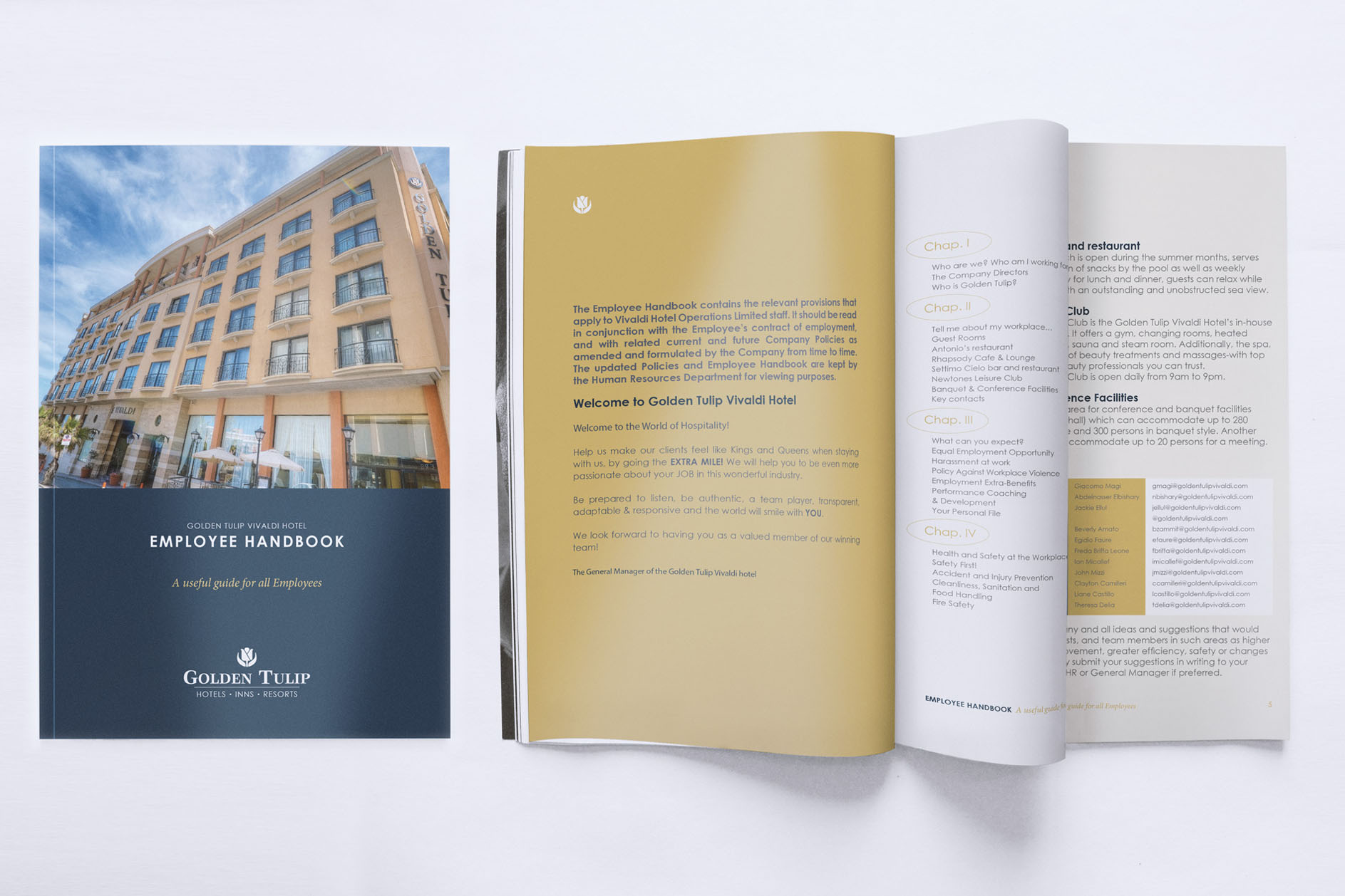 4Sight Create Branding & Digital Marketing Agency Malta - Project: Golden Tulip Vivaldi Employee handbook design