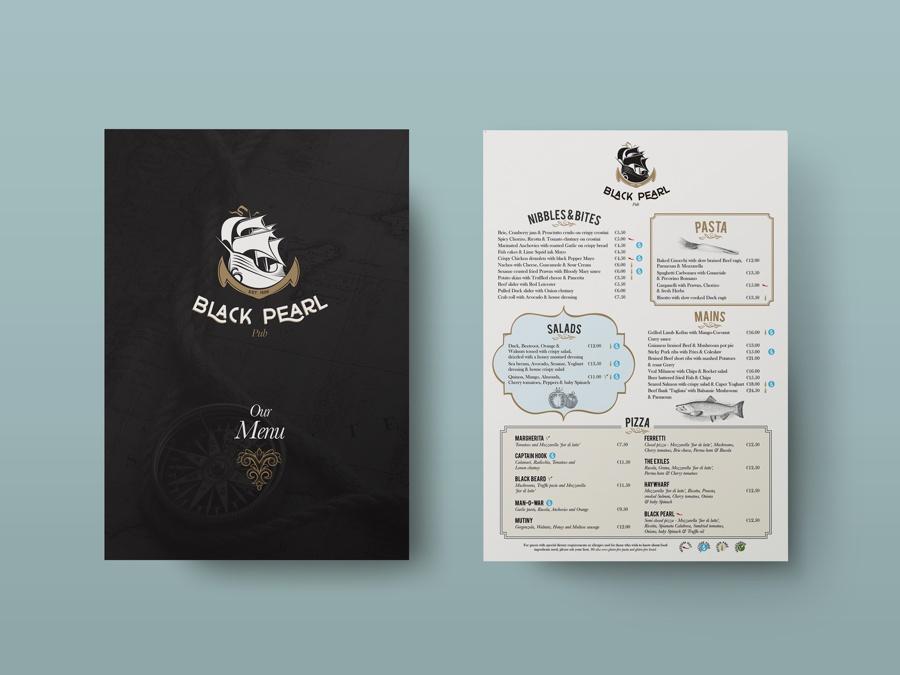 black pearl menu
