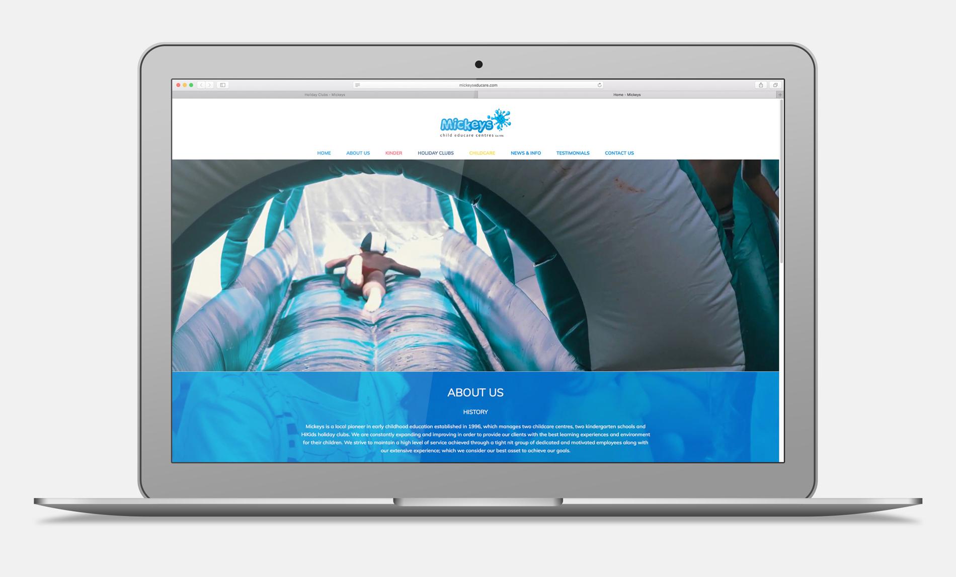 Mickeys School website