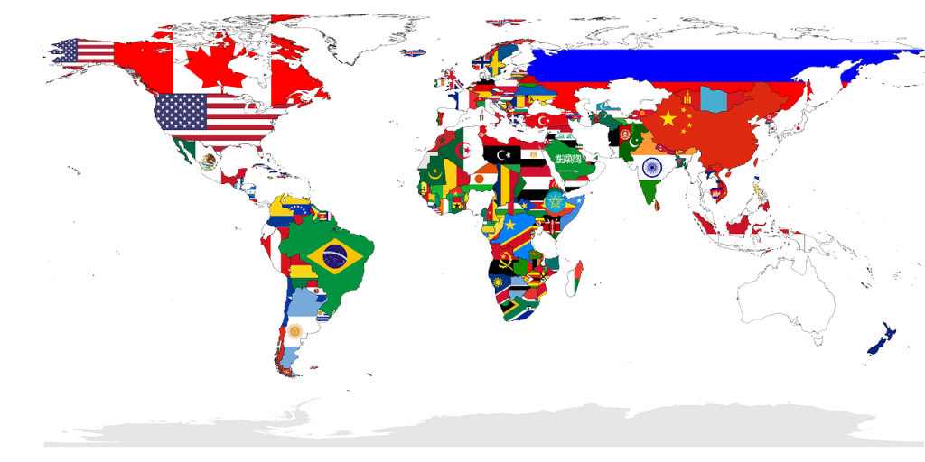 world flags languages