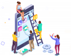 Mobile app development art