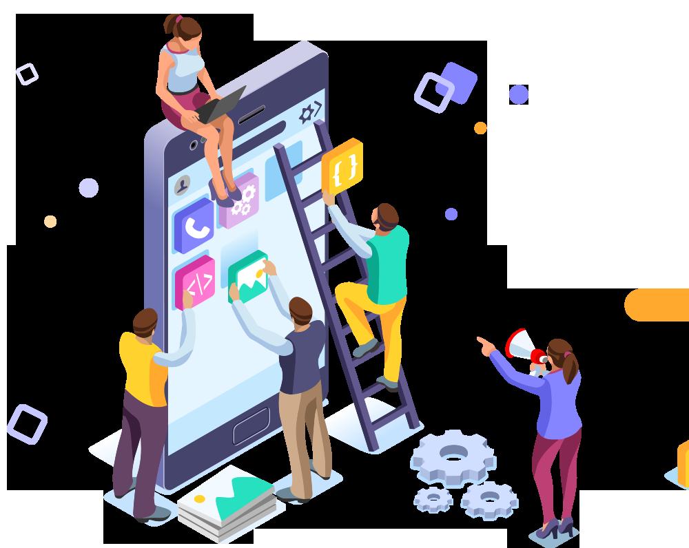 Mobile app development art
