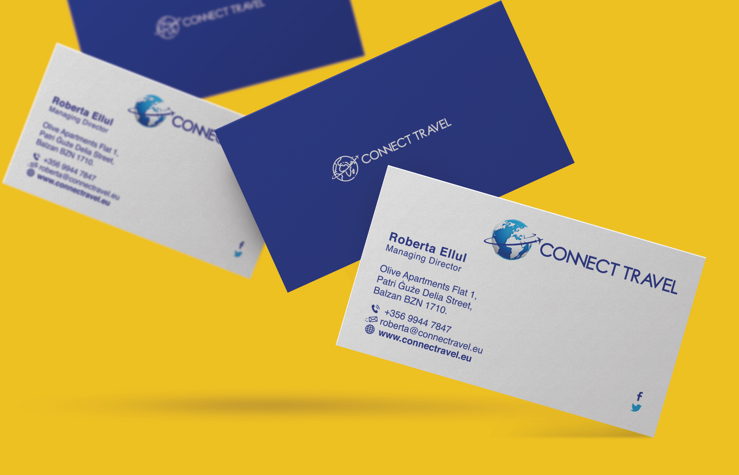 Connect Travel business cards