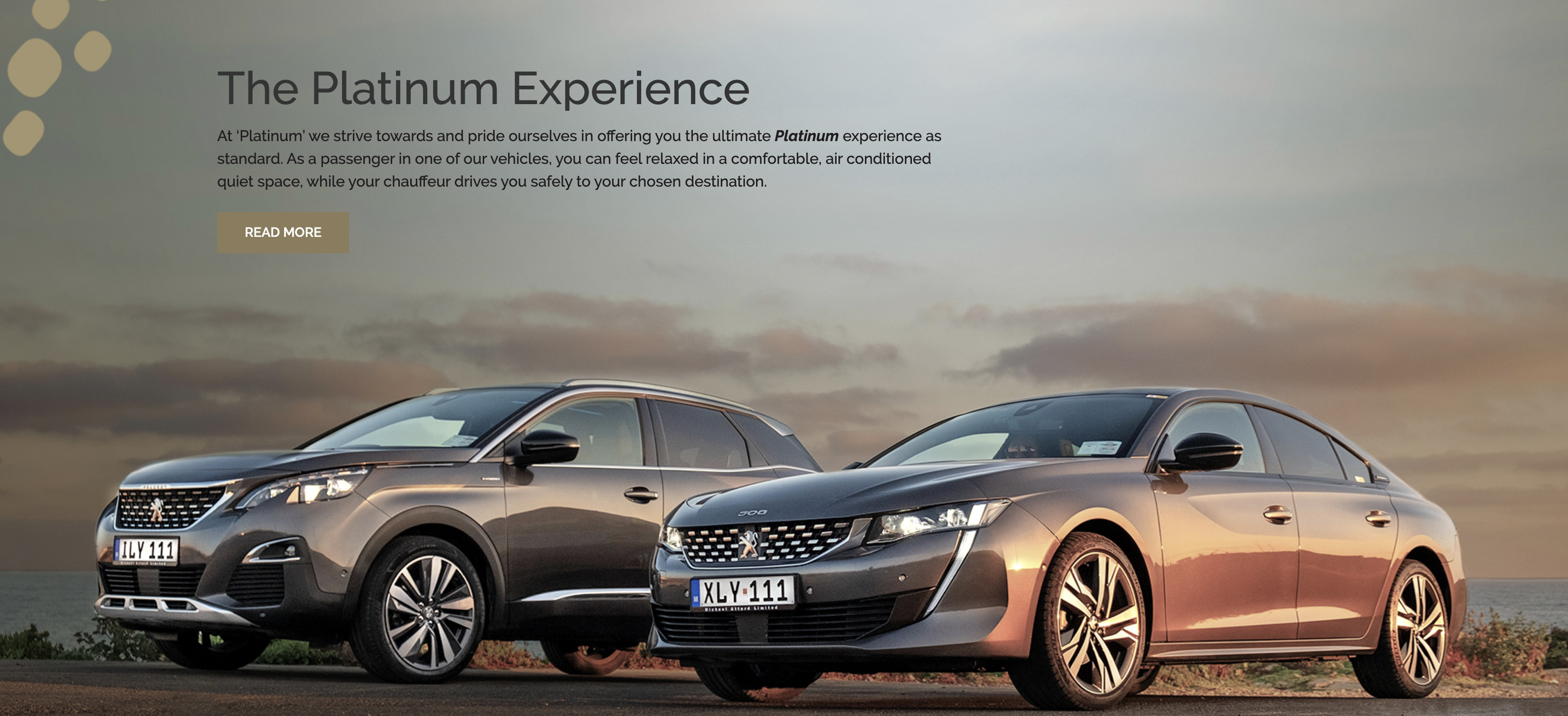 Platinum Cabs website