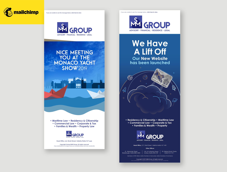 SMM Group branding material
