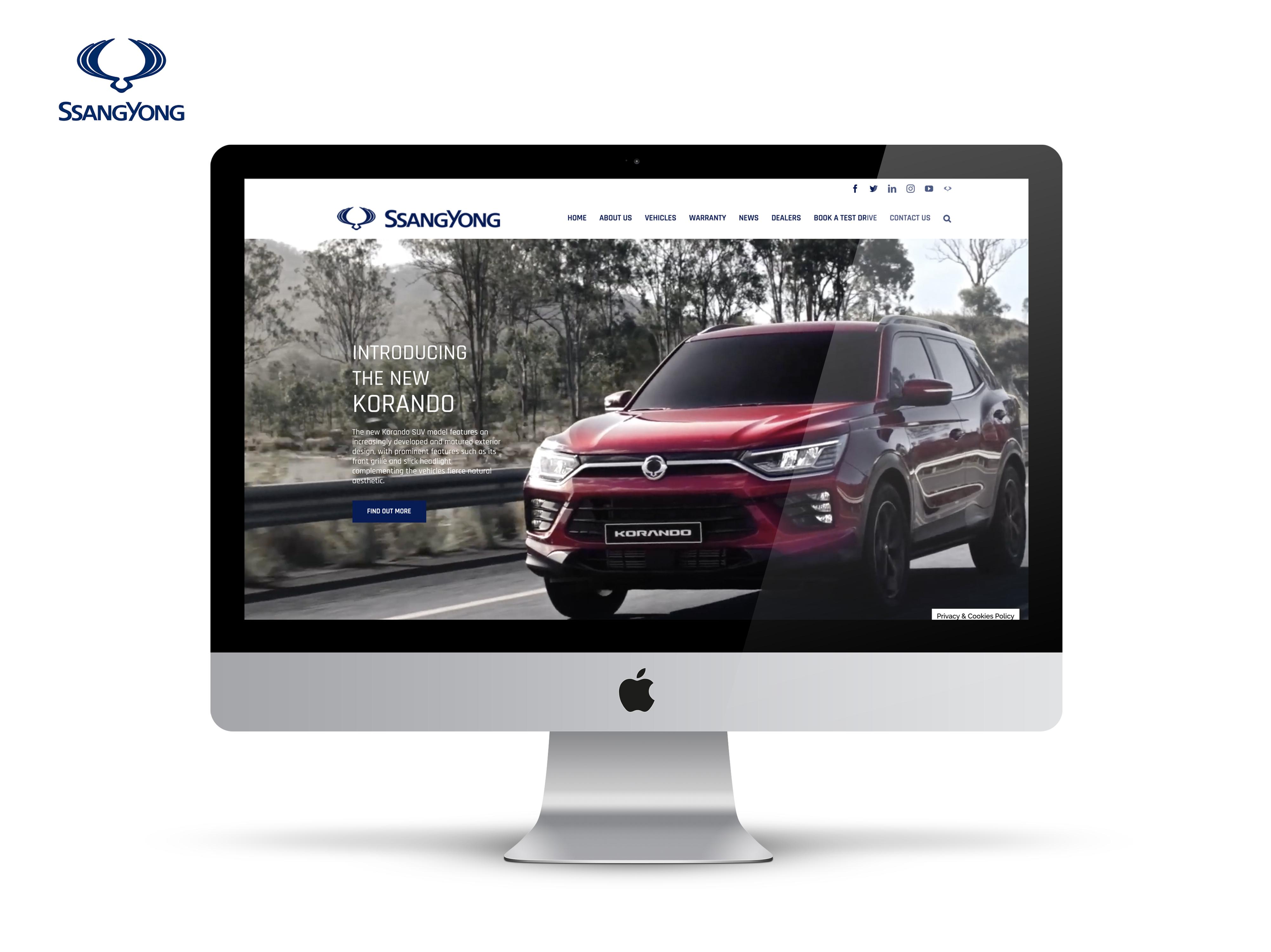 ssangYong website