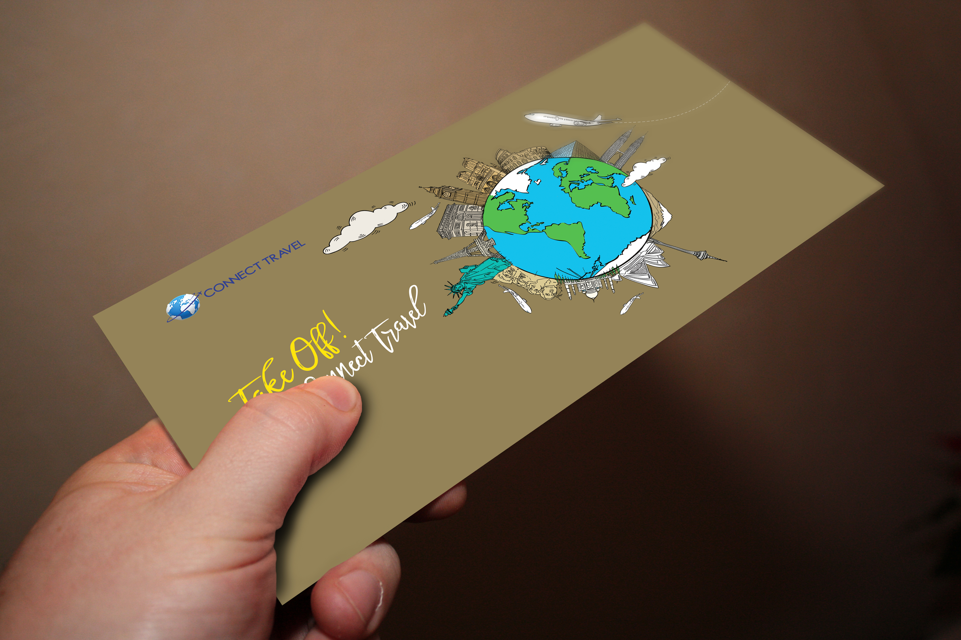 Connect Travel branding material