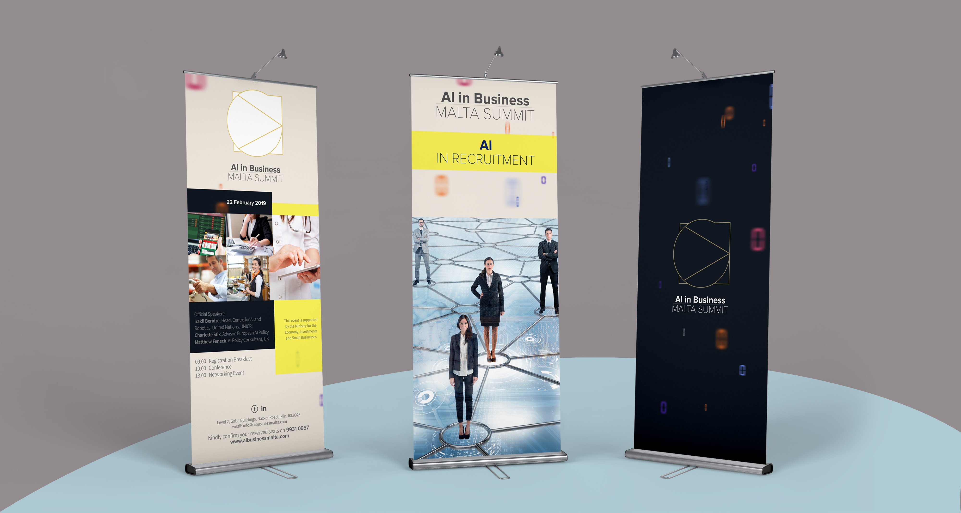 AI Malta Summit roll up banners