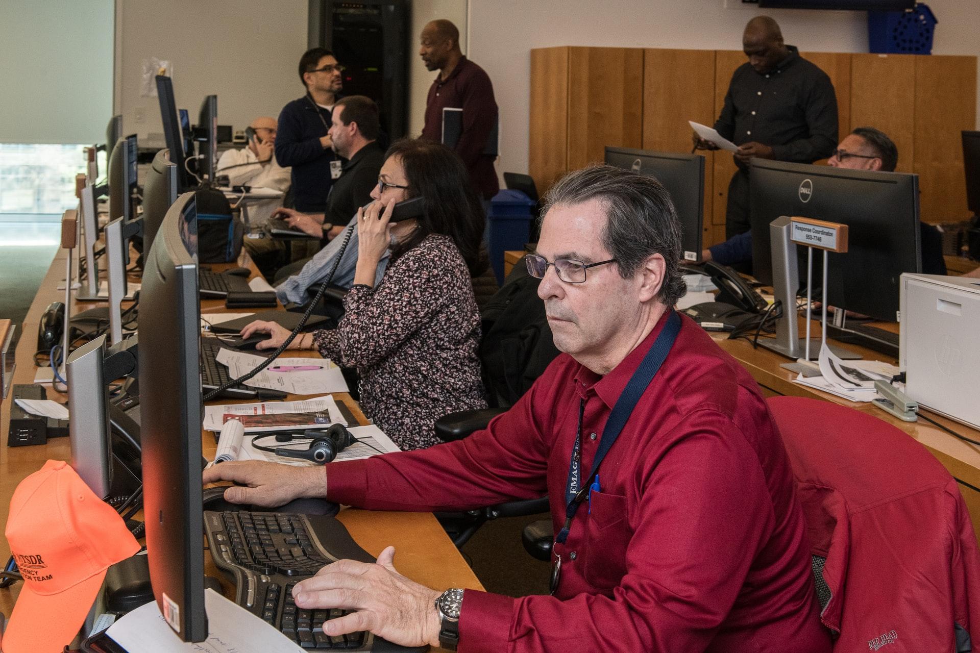 people working in public office